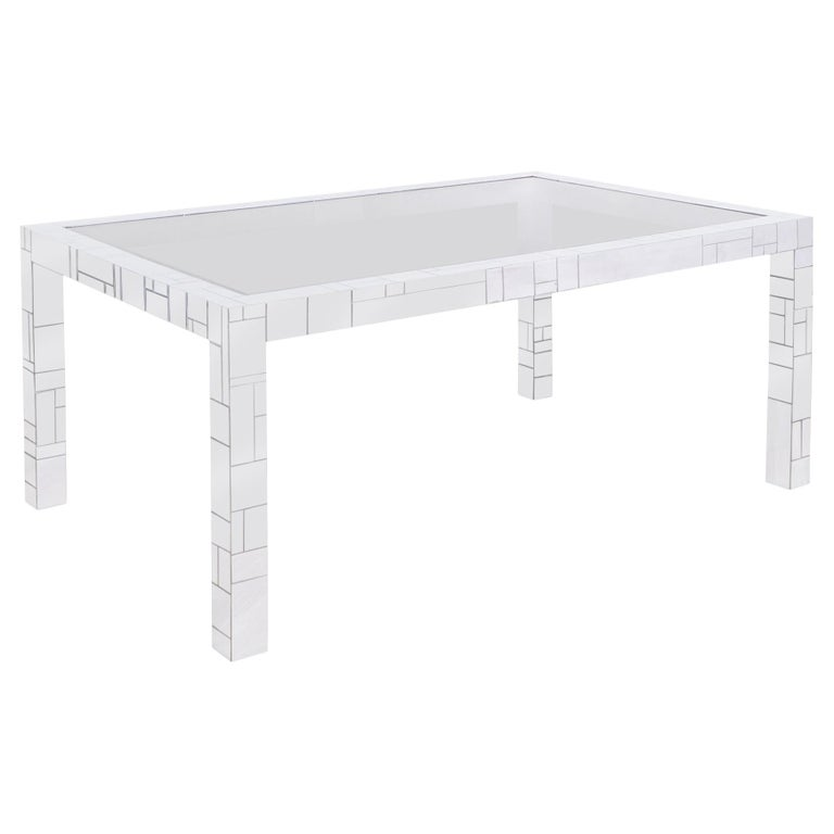 """Vintage Chrome """"Cityscape"""" Dining Table by Paul Evans for Directional For Sale"""