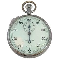 Vintage Chrome Garrard Swiss Mechanical Stop Watch