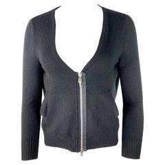 Vintage Chrome Hearts Black Cashmere Blazer Sweater, Size Small