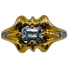 Vintage Chrome Hearts Yellow Gold and Diamond Ring