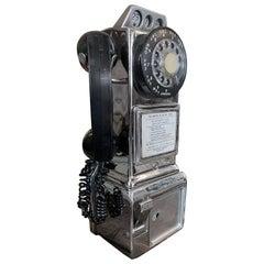 Vintage Chrome Pay Phone, 1960
