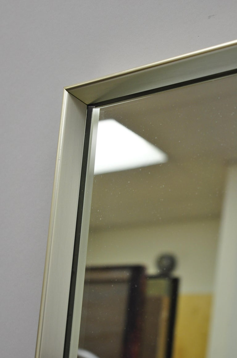 American Vintage Chrome Plated Metal Mid-Century Modern Modernist Wall Mirror by Hart For Sale