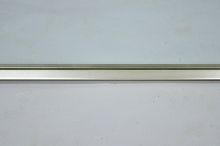 Vintage Chrome Plated Metal Mid-Century Modern Modernist Wall Mirror by Hart For Sale 3