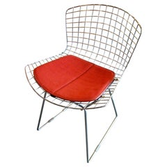 Vintage Chrome Side/Desk Chair by Harry Bertoia for Knoll International USA