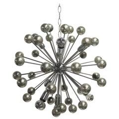 Vintage Chrome Sputnik Chandelier, 1960s