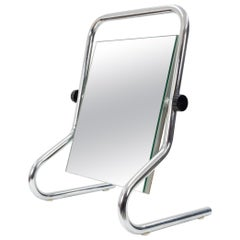 Vintage Chrome Table Mirror, 1970s, France