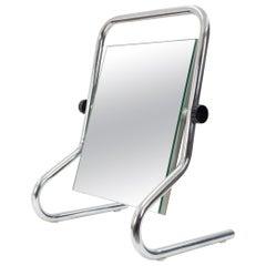 Vintage Chrome Table Mirror, 1970s, France