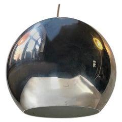 Vintage Chrome 'Topan' Pendant Light by Verner Panton for Louis Poulsen, 1960s