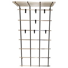 Vintage Chrome Wall Rack by Pilastro, 1970s
