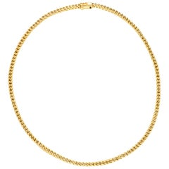 Vintage Chunky Chain Necklace in 18 Karat Yellow Gold