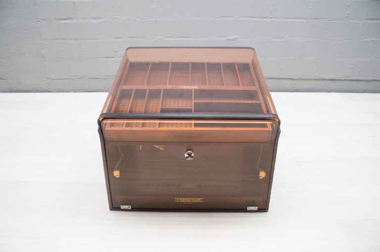 Plexiglass Vintage Cigar Humidor from 5th Avenue, 1970s For Sale