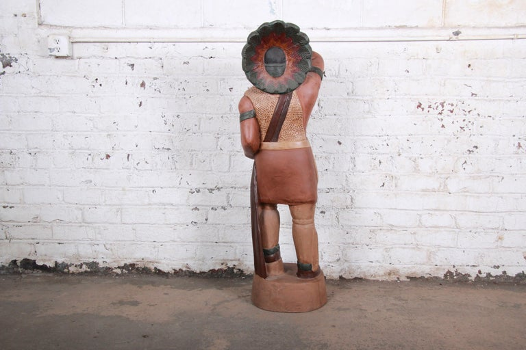 Vintage Cigar Store Indian Statue For Sale 3