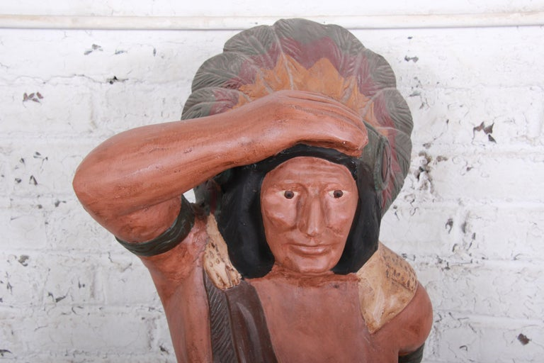 American Vintage Cigar Store Indian Statue For Sale