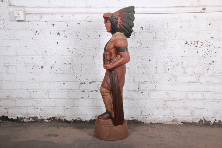 Vintage Cigar Store Indian Statue For Sale 1