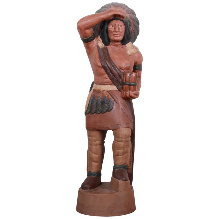 Vintage Cigar Store Indian Statue For Sale