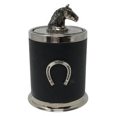 Vintage Cigarette Holder with Horse Head and Horse Shoe