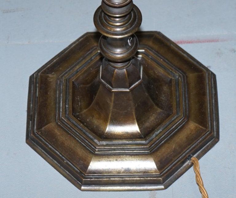 Mid-20th Century Vintage circa 1930s Freestanding Art Deco Floor Lamp with Bakelite Switches For Sale