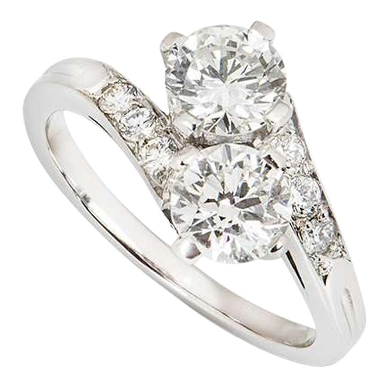 Tiffany & Co.  Vintage circa 1960s Diamond Engagement Ring in Platinum For Sale