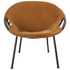 Vintage Circle Lounge Chair from Lusch Erzeugnis for Lusch & Co, 1960s
