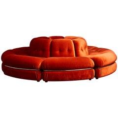 Vintage Circular Sofa, 1980s