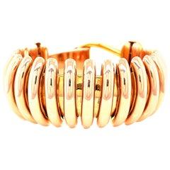 Vintage Citrine Diamond Rose Gold Bracelet