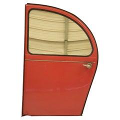 Vintage Citroen 2CV Red Car Door