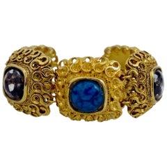 Vintage Claire Deve Byzantine Turquoise Stone Bracelet