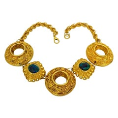 Vintage Claire Deve Byzantine Turquoise Stone Necklace