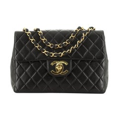 Vintage Classic Single Flap Bag Quilted Lambskin Jumbo