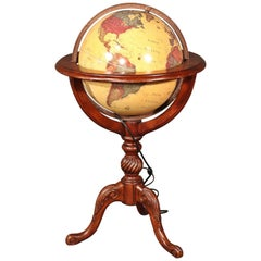 Vintage Classica Lighted French Style World Globe