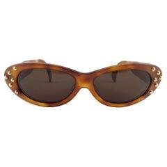Vintage Claude Montana 580 053 Tortoise & Gold Accents Sunglasses 1989