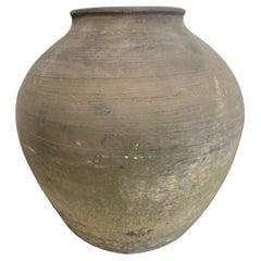 Vintage Clay Pot Vessel