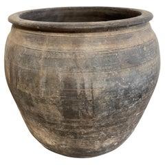 Vintage Clay Pottery Oil Pot