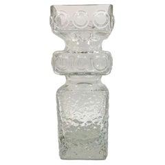 Vintage Clear Glass Riihimaki Vase, Tamara Aladin