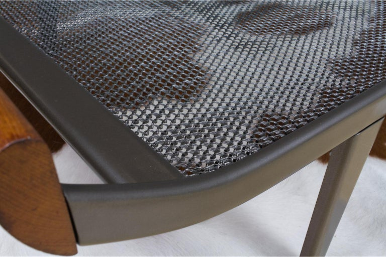 Vintage Cleopatra Daybed by Andre Cordemeyer in Charcoal Grey Linen, 1953 For Sale 3