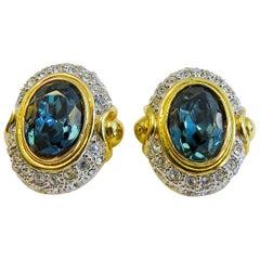 Vintage Clip-On Earring 18 Karat Gold-Plated