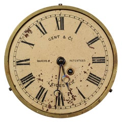 Vintage Clock Dial Face Industrial Gents Leicester, Working