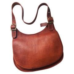 Vintage Coach Bag Large Hippie Flap Leather Saddle Bag Bonnie Cashin Era