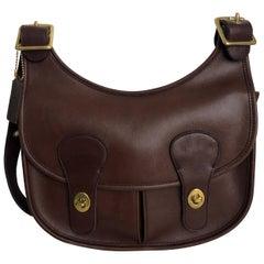 Vintage Coach Bag Pony Express Bonnie Cashin Era Mahogany Leather Rare