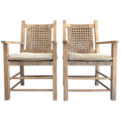 Vintage Coastal Chairs After Attributed to Kreiss Furniture, 2 Pairs Available