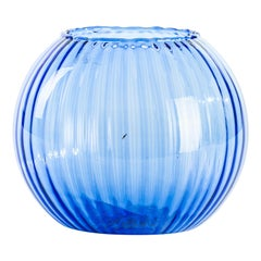 Vintage Cobalt Blue Glass Vase, Germany, 1960s
