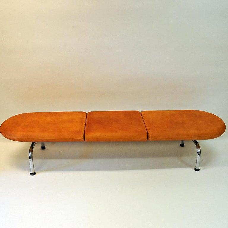 Vintage Cobra Sofa Bench by Erik Jørgensen Møbelfabrik, Denmark, 1980s For Sale 1