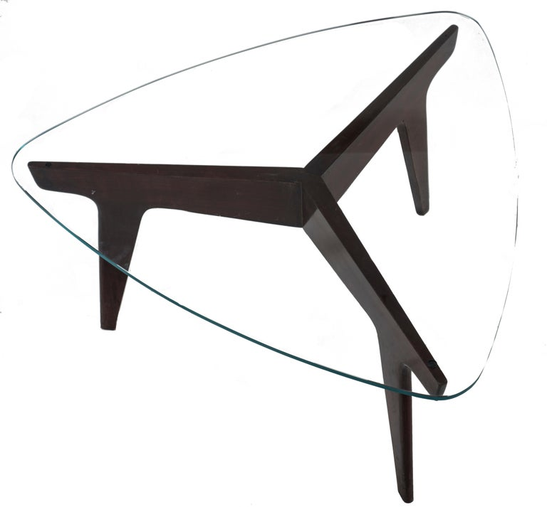 Vintage Coffe Table by Gio Ponti, Italy, 1950s In Good Condition For Sale In Roma, IT