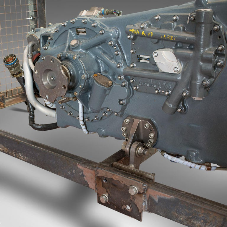 Vintage Coffee Table, English, Industrial Taste, RAF Tornado, Aviation Gearbox For Sale 7