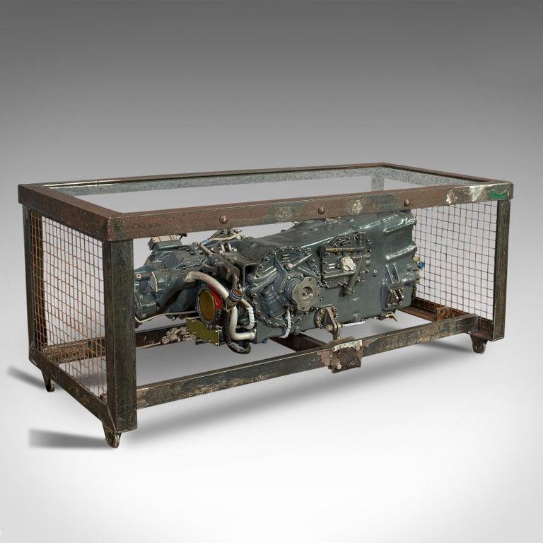 Vintage Coffee Table, English, Industrial Taste, RAF Tornado, Aviation Gearbox For Sale 1