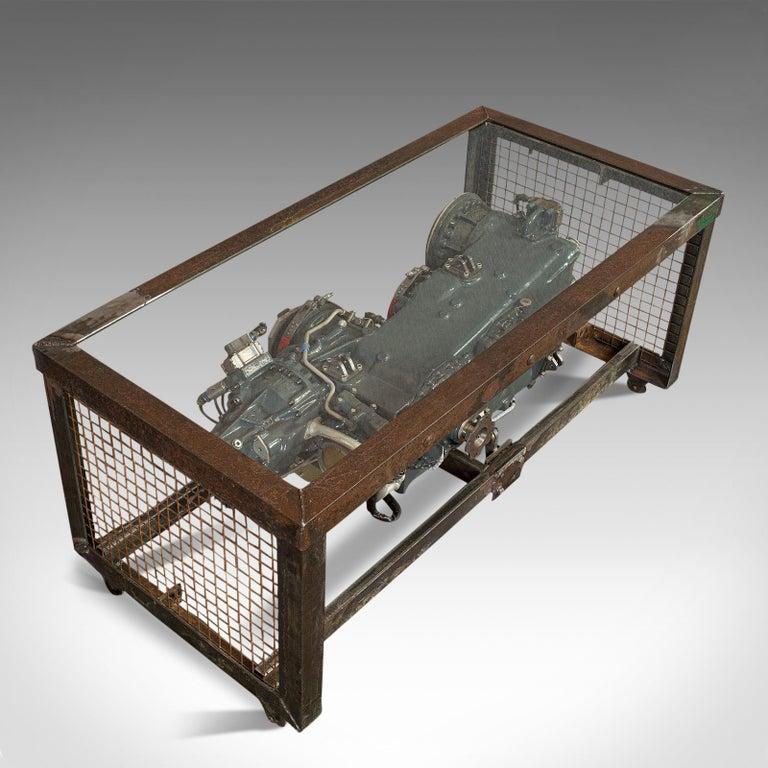 Vintage Coffee Table, English, Industrial Taste, RAF Tornado, Aviation Gearbox For Sale 2