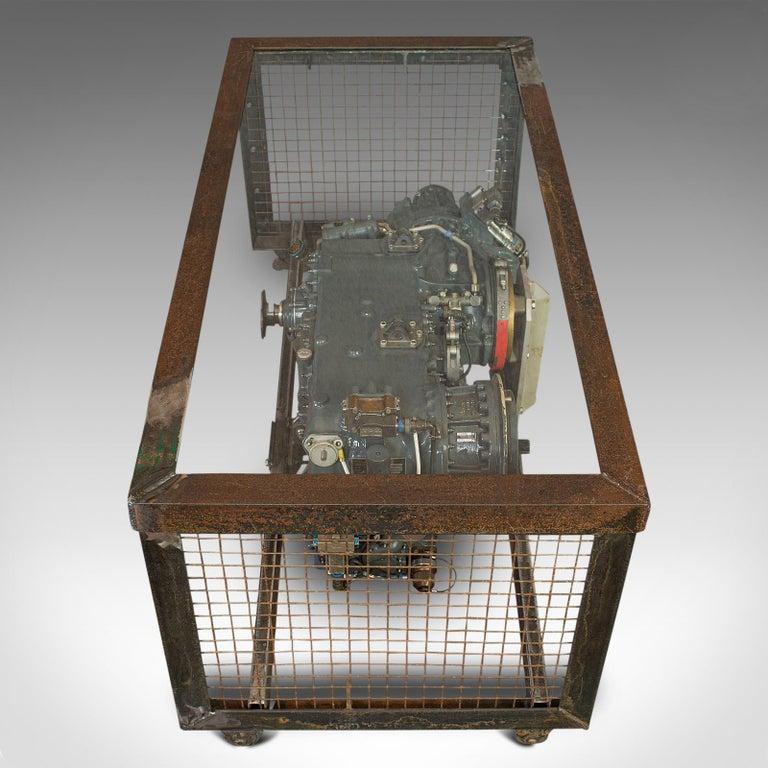 Vintage Coffee Table, English, Industrial Taste, RAF Tornado, Aviation Gearbox For Sale 3