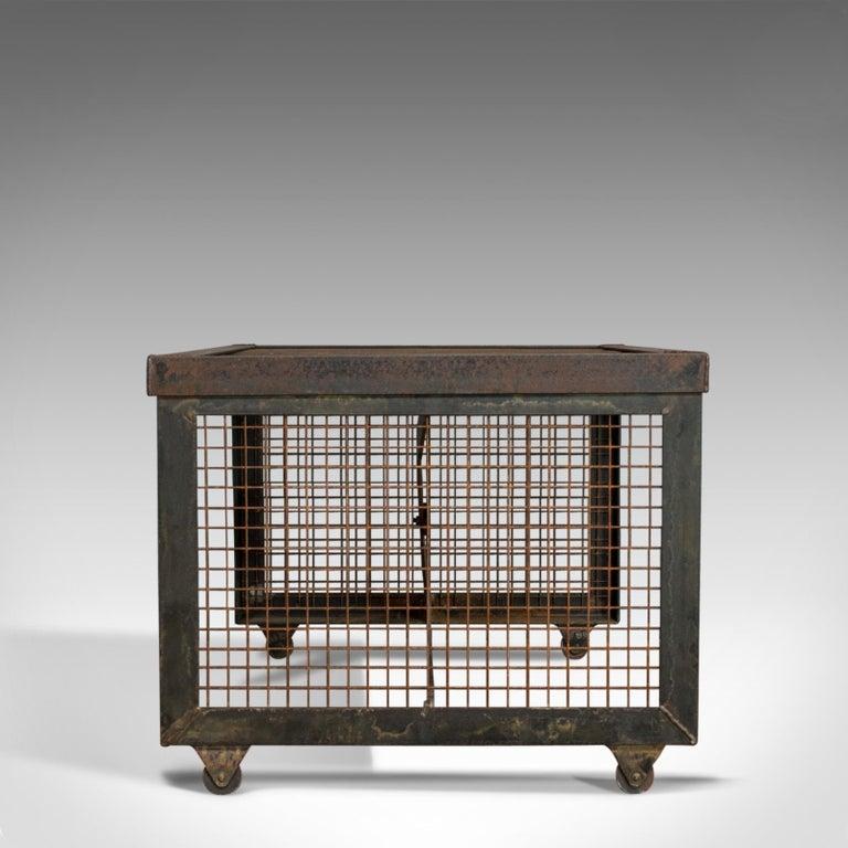 Late 20th Century Vintage Coffee Table, Industrial Taste, English, Steel, Oak, 20th Century For Sale