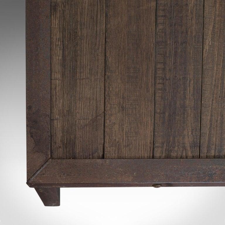Vintage Coffee Table, Industrial Taste, English, Steel, Oak, 20th Century For Sale 2