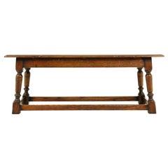 Vintage Coffee Table, Long Oak Table, Scotland 1950, B2432